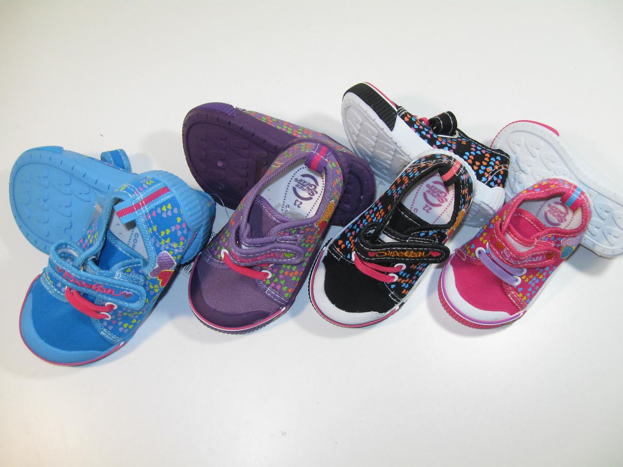 b04105332 Текстильная обувь для девочек, размеры 20,21,22,23,24,25, арт. A 9960