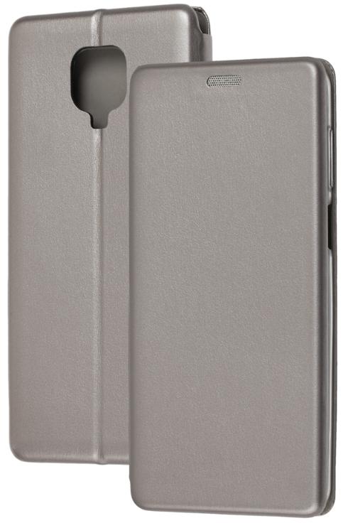 Чехол-книжка Оригинал Xiaomi Redmi Note 9 (Серый)
