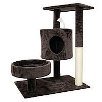 (GipS), Будиночок кігтеточка для котів коричневий, ігровий комплекс і кігтеточка для котів, будиночок для