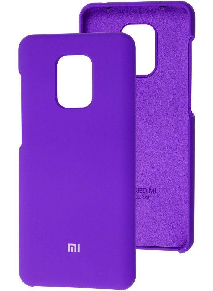 Чехол Оригинал Silicone Case  Xiaomi Redmi Note 9 (Фиолетовый)