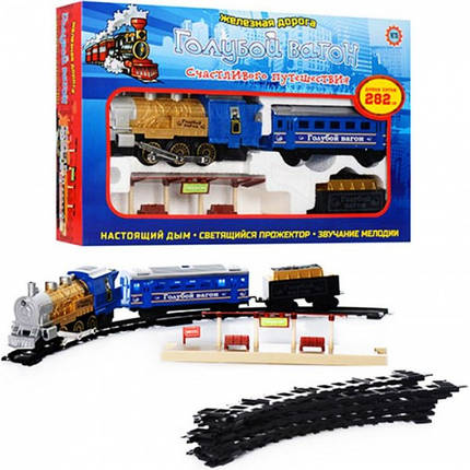 """Детская железная дорога """"Голубой вагон"""" 7014 (12 деталей, путь 282 см), фото 2"""