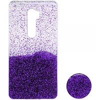 Силиконовый чехол Fashion popsoket для Xiaomi Redmi 9 violet