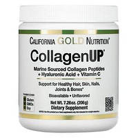 Морской коллаген-пептид, CollagenUP California GOLD Nutrition с гиалуронкой и витамином C, 5000 мг (206 г)