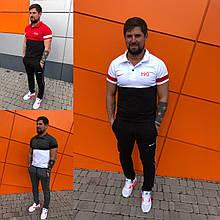 Мужской летний брендовый спортивный костюм футболка и штаны с м л хл 2хл