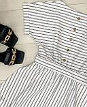 Летнее белое платье миди в полоску ткань стрейч коттон , талия на резинке Норма и Батал, фото 6
