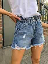 Летние повседневные джинсовые шорты женские со средней посадкой