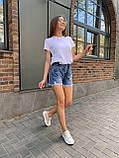 Летние повседневные джинсовые шорты женские со средней посадкой, фото 4
