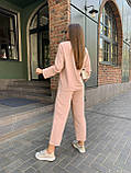 Летний стильный повседневный брючный костюм женский: белый, бежевый, жёлтый, оливковый, фото 9