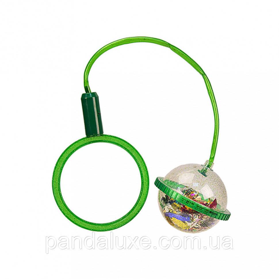 Детская скакалка. Нейроскакалка SA1003  на одну ногу (Зеленый)