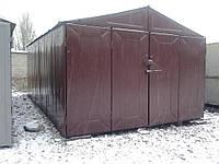 Поставить железный гараж
