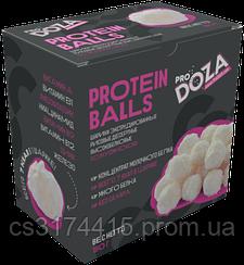 Высокобелковые конфеты ProDoza Рисовые Шарики в Белом Шоколаде со вкусом Кокоса (180 грамм)