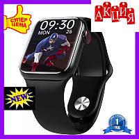 Смарт часы М16 плюс черные.Умные часы м16.Smart watch 6 series 44mm m16 plus черные