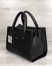 Вместительная каркасная молодежная женская сумка Aliri-561-04 черная