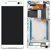 Дисплей Sony Xperia C5 Ultra E5506, Xperia C5 Ultra Dual E5533, E5563 + Touchscreen with frame White