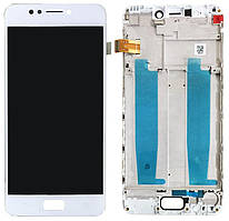 Дисплей Asus ZenFone 4 Max ZC520KL + Touchscreen with frame (original) White