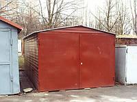 Поднимаем металлический гараж
