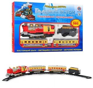 """Детская железная дорога """"Голубой вагон"""" 7017 (путь 380 см)"""