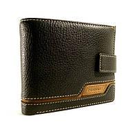 Портмоне, кошелек мужской кожаный  Prensiti 8938A черный, чехол для прав, отделы для карт
