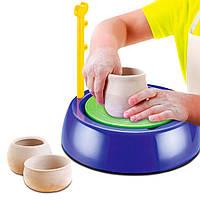 Гончарный круг детский набор для творчества с глиной Pottery Wheel