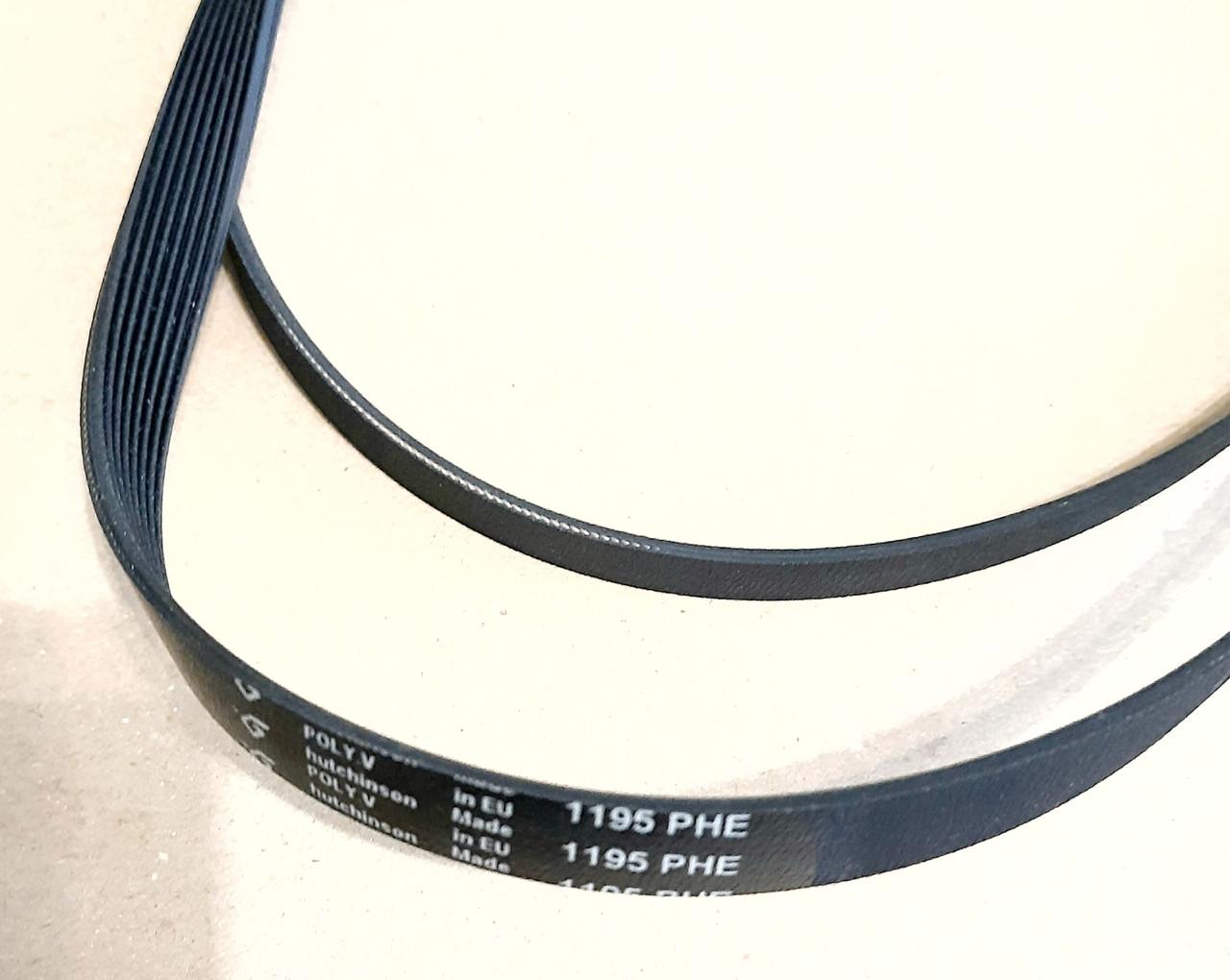 Ремень  PHE 8 1195 «Hutchinson» черный для стиральной машины Indesit Ariston Оригинал