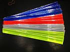"""Велосипедный светоотражающий браслет лента полоска на запястье / фликер ПРЕМИУМ """"ЗАМША"""" (БЕЗ НАДПИСЕЙ / 44 СМ), фото 3"""