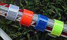 """Велосипедный светоотражающий браслет лента полоска на запястье / фликер ПРЕМИУМ """"ЗАМША"""" (БЕЗ НАДПИСЕЙ / 44 СМ), фото 4"""