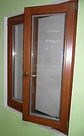 Окно деревянное евробрус сосна(размером - 1.3*1.4м) с 2кам стеклопакетом