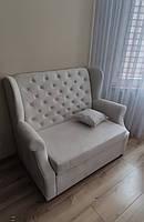 Розкладний диван для кухні (Світло-сірий)