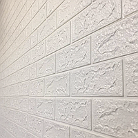 М'яка самоклеюча 3Д панель 700*770*5 мм. для стін біла