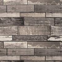 Попелясте дерево 3Д-панелі самоклеючі для декору стін (м'які 3d-панелі ПВХ під сіре дерево) 700x700x5мм