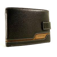Портмоне, кошелек мужской кожаный  Prensiti 8948A черный, чехол для прав, отделы для карт