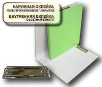 Папка с прижимом CLIPBOARD 25мм А4 PP покрытие Перспектива-Славутич, Украина, Скоросшиватель, салатовый