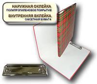 Папка с прижимом CLIPBOARD 25мм А4 PP покрытие Перспектива-Славутич, Украина, Скоросшиватель, шотландка