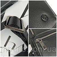 Мужская кожаная нагрудная сумка слинг через плечо H.T. Leather, фото 10