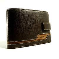 Портмоне, кошелек мужской кожаный  Prensiti 8948 В коричневый, чехол для прав, отделы для карт