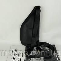 Мужская кожаная нагрудная сумка слинг через плечо H.T. Leather, фото 8
