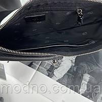 Чоловіча шкіряна  нагрудна сумка слінг через плече H. T. Leather, фото 9