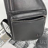 Чоловіча шкіряна  нагрудна сумка слінг через плече H. T. Leather, фото 7