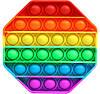 Сенсорная игрушка антистресс Pop It силиконовая пупырка поп ит восьмиугольник Разноцветный