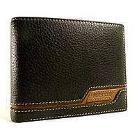 Портмоне, кошелек мужской кожаный  Prensiti 8957 A черный, чехол для прав, отделы для карт
