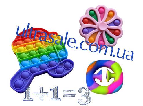 Сенсорна іграшка Simple Dimple поп іт антистрес сімпл дімпл pop it різнокольоровий горошок 2, фото 2