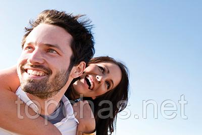 Счастливая возлюбленная пара