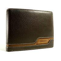 Портмоне, кошелек мужской кожаный  Prensiti 8957 В коричневый, чехол для прав, отделы для карт