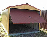 Сварной металлический гараж
