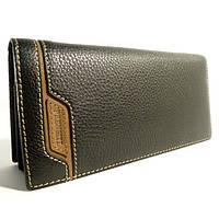 Портмоне, кошелек, купюрник мужской кожаный  Prensiti 8944 А черный, чехол для прав, отделы для карт