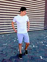 Мужской летний комплект  -серые шорты и футболка цвета на выбор   S, M, L, XL, XXL