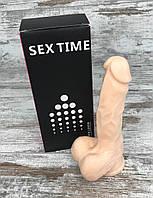 Фаллоимитатор силиконовый на присоске 17х4, лучшие интимные секс игрушки для женщин3