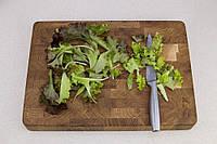 Торцевая разделочная деревянная доска для кухни ПикничОК из дуба 45х30х4 см (Кухонная доска для нарезания), фото 1