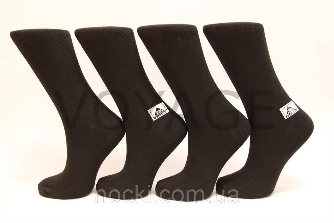 Жіночі шкарпетки високі стрейчеві гладкі Стиль 23-25 чорні