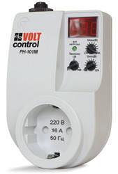 Реле напряжения РН-101М (16А, 220В, в розетку, индикация напряжения, токовый автомат)